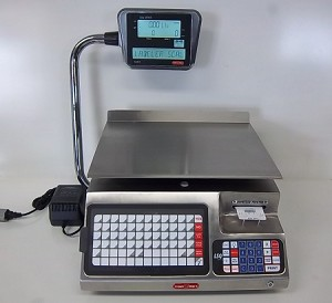 Tor-Rey LSQ-40L, 40 lb Price Computing Scale with Label Printer